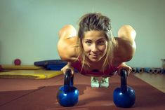 Image result for woman doing kettlebells and zumba