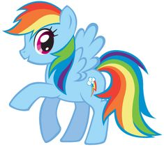 How to Draw Rainbow Dash from My Little Pony Friendship is Magic with Easy Steps Lesson