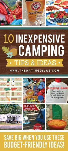 Ideas for camping on a budget - save tons with these hacks and tips!http://campingideas.info/camping
