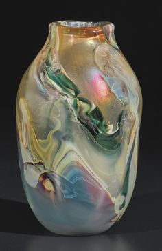 TIFFANY STUDIOS PAPERWEIGHT VASE engraved X342 949J L.C. Tiffany Favrile favrile glass