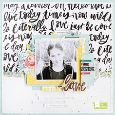 Love the washi tape border between papers & all the layering behind photo