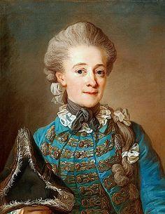 Baroness Ulrica Fredrika Cedercreutz (1730-1784) in riding habit by Gustaf Lundberg
