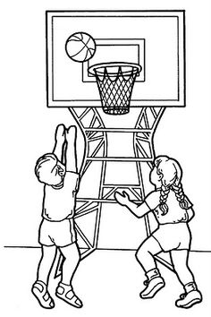 is basketball your sport share some of these coloring pages with your sponsored children - Sports Drawing Pictures