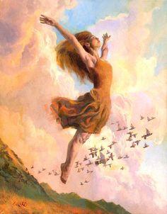 Ballet Painting - The Joy Of Life by Francois Girard Ballet Painting, Mode Poster, Prophetic Art, Jesus Pictures, Joy Of Life, Christian Art, Love Art, Female Art, Art Inspo