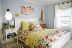 decor8 Pinterest - Bright Floral Bedroom by Kelly Rae Roberts  http://decor8blog.com/2009/04/08/a-whimsical-home-in-seattle/