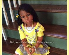 Biracial AA reborn toddler girl made from by BabyandKidsUnlimited