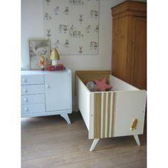 vintage bedje 'eendje' crib lit - www.mevrouwdeuil.nl