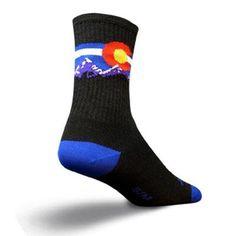 SockGuy Wool Crew 6in Colorado MTN Cycling/Running Socks - http://ridingjerseys.com/sockguy-wool-crew-6in-colorado-mtn-cyclingrunning-socks/