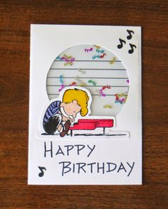Diversion Showcase: Schroeder and Beethoven Live On. 16 Year Old, Birthday Cards, Card Ideas, Live, Frame, Bday Cards, Anniversary Cards, A Frame, Frames