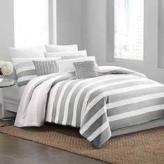 DKNY® Highline Grey Duvet Cover Kind of loving this, I can add yellow pillows or coral