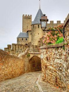Medieval Castle, Carcassonne, France.