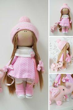 Muñeca hecha a mano muñeca Interior textil por AnnKirillartPlace