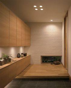 - Best ideas for decoration and makeup - Modern Japanese Interior, Japanese Home Design, Japanese House, Bedroom Minimalist, Hallway Designs, Interior Decorating, Interior Design, House Entrance, Home Office