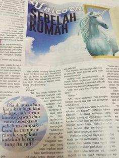 Unicorn Sebelah Rumah (Syahmi Fadzil) dalam akhbar Selangor Kini 6 - 13 Mac 2015