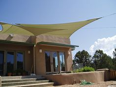 Shade sails on the patio