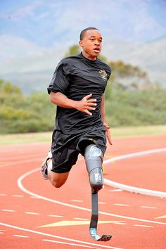U.S. Army World Class Athlete Program Paralympic Sgt. Jerrod Fields, a U.S. Army World Class Athlete Program Paralympic sprinter hopeful, works out at the U.S. Olympic Training Center in Chula Vista, Calif. A below-the-knee amputee, Fields won a gold medal in the 100 meters with a time of 12.15 seconds at the Endeavor Games in Edmond, Okla., on June 13, 2009. See more at www.army.mil. Photo by Tim Hipps, FMWRC Public Affairs