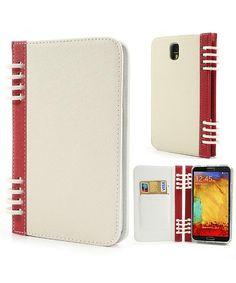 Samsung N9005 Galaxy Note 3 Dagboek Wallet Case Wit Rood