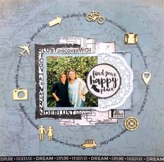 Kaisercraft Just Landed - Leonie Neal-Dawson Scrapbook Sketches, Scrapbook Page Layouts, Scrapbook Cards, Scrapbook Borders, Photo Layouts, Print My Photos, Smash Book Pages, Project Life Scrapbook, Scrapbook Embellishments