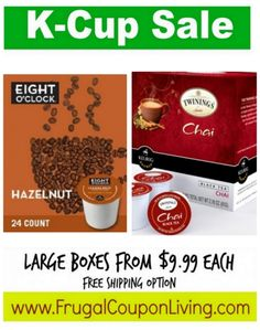 K-Cup Sale Starting at $.42 per K-Cup + FREE Coffee Recipe Book & Coupon