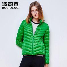 ba480d4346931 BOSIDENG winter down coat Women Spring down jacket ultra light ladies s  Clothing with pocket basic sale
