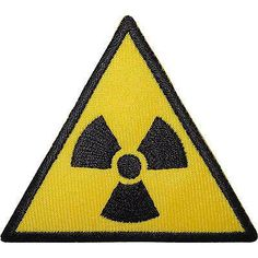 Radioactive Sign Embroidered Iron / Sew On Patch Radiation Symbol T Shirt Badge Size 7.2 cm Width and 6.3 cm Height. How to Iron on a Patch Lay your cloth on a