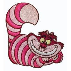 Disney Alice in Wonderland Cheshire Cat Lounging Embroidered Iron On Movie Patch