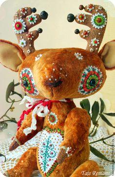 Мишки Тедди ручной работы. Ярмарка Мастеров - ручная работа Рождественский Олень- Роберт. Handmade.