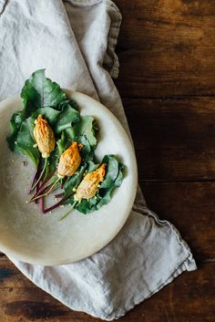 Baked Squash Blossoms Stuffed with Beet Hummus | Dolly and Oatmeal
