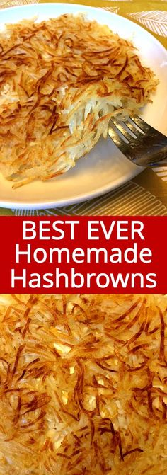 How To Make Hashbrowns From Scratch – So Crispy! These homemade hashbrowns are so crispy and delicious! Once you try making hashbrowns from scratch, you'll never want to eat the frozen packaged ones! Shredded Hashbrown Recipes, Frozen Hashbrown Recipes, Frozen Hashbrowns, Vegetarian Recipes, Cooking Recipes, Healthy Recipes, Salad Recipes, Clean Eating, Gastronomia