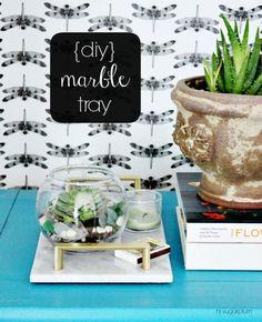 {DIY} Marble Tray