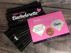 """Free Ship: Bachelorette """"Confess or Dare"""" Party Game Scratch Off Cards Girls Night Out Hen Party Truth Dare Scavenger Hunt Girls Night out"""