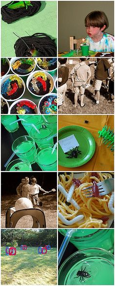 Bug party ideas! Some look good and some look ummm interesting!