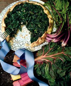 Crostata With Warm Salad of Garden Greens and Weeds. Click the link to get the complete recipe at NYTCooking.com. (Photo: Raymond Meier for The New York Times)