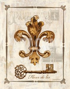 Fleur de Lis Art Print by Gregory Gorham at eu.art.com