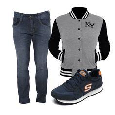 combo, estilo, moda masculina, athleisure