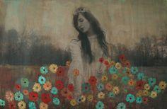 "by Shae Detar: 20x30"" Painted Photo (On Canvas) of Designer & Blogger Keiko Lynn."