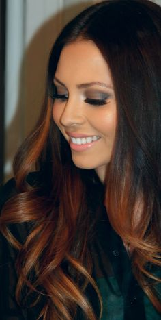 Hair curling products- screw the curling products I love her hair color!!