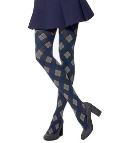 f99e8fd6879a03 Shoppers Galore · Products · Hue Women's Control-Top Argyle Tights M/L  Graphite Heather