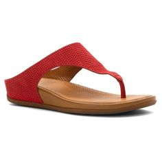 FitFlop Women's Banda Perf Nubuck Toe-Thong Sandals -- Discover this special product, click the image : Strappy sandals