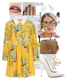 """""""Sea Breeze"""" by fandemode85 ❤ liked on Polyvore featuring Fendi, Jimmy Choo, Majorica, Nine West and Accessorize"""
