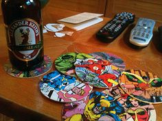 DIY superhero coasters