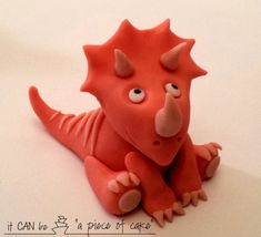triceratops dinosaur fondant edible cake topper decoration