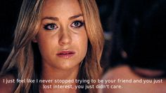 Lauren Conrad's brilliant quote on friendship. - Had this happen with an old high school friend after many years of friendship, things have never been the same :/