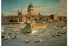 London,The Thames with View of the City of St.Paul