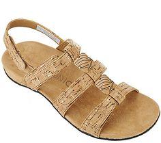 48debecbd44e32 Vionic Orthotic Triple Strap Sandals - Amber. QVC