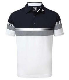 The FootJoy Stretch Lisle Gradient Colour Block Polo Shirt has been created using a comfortable technical fabric that offers excellent breathable and moisture-wicking performance. Polo Rugby Shirt, Mens Polo T Shirts, Polo Tees, Golf Shirts, Boys T Shirts, Mens Sweatshirts, Men's Polo, Camisa Polo, Baseball Jacket Men