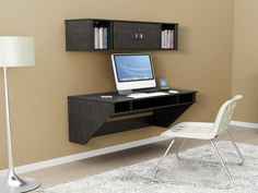 Best Folding Floating Desk Design: Prepac Designer Folding Floating Desk Design – Ferodoor