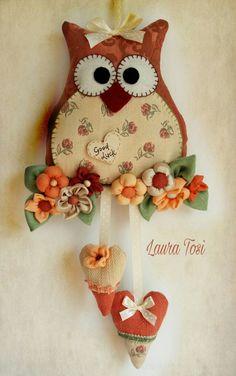 Gufetti Good luck by Laura Tosi https:// www.facebook.com/fattoconamorelaura #cucitocreativo #creativemamy #handmade #owl #handmadewhitlove #lemaddine