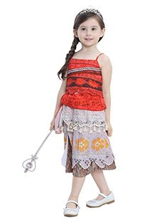 New Design Girl Moana Cospaly Dress Girl Princess Dress Kids Fashion Casual  Print Costume Children Clothes Gift Infantis meninas aaaec2759f17