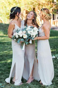 Sexy Simple Spaghetti Straps A Line Bridesmaid Dress